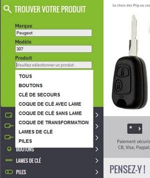 coque de clé Peugeot, Renault, Citroën